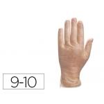 Guante Deltaplus de vinilo desechable especial para trabajos de corta duración caja de 100 talla 9-10