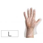 Guantes Glove desechable polietileno caja de 100 unidades talla l