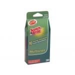 Guantes scotch-brite desechable de latex talla mediana caja de 100 unidades