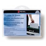 Hojas lubricantes Rexel para destructora paquete de 20 hojas tamaño A5