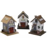 Hucha color infantil casas madera Airon