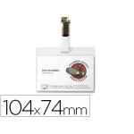 Identificador 3l office con pinza 104x74 mm pack de 10 unidades