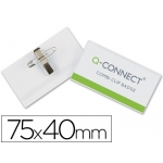 Identificador Q-connect con pinza e imperdible 40x75 mm