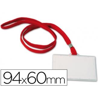 Q-Connect KF03303 - Identificador con cordon plano, apertura lateral, 60 mm x 94mm