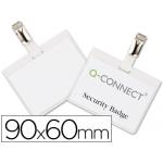 Identificador con pinza Q-Connect 60x90 mm cerrada