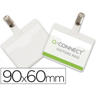 Identificador con pinza Q-Connect 60x90 mm con apertura superior