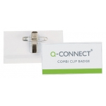 Identificador con pinza e imperdible Q-connect 54x90 mm