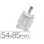 Durable 8118-19 - Identificador con pinza giratoria, uso vertical/horizontal, 54 mm x 85 mm