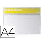 Identificador mural archivo portanombre con adhesivo trasero en poliestireno transparente tamaño A4