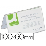 Identificador de sobremesa Q-connect de metacrilato tamaño 100x60 mm