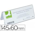 Identificador de sobremesa Q-connect de metacrilato tamaño 145x60 mm