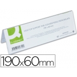 Identificador de sobremesa Q-connect de metacrilato tamaño 190x60 mm