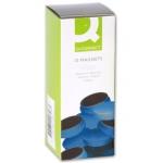 Imanes para sujeción Q-connect ideal para pizarras magneticas 20 mm color azul caja de 10 imanes