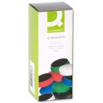 Imanes para sujeción Q-connect ideal para pizarras magneticas 35 mm colores surtidos caja de 10 imanes