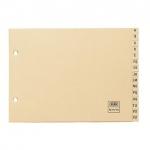 Indice alfabético Elba clasificador cartulina para archivador tamaño folio