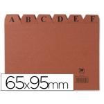 Liderpapel IC01 - Índice para fichero, tamaño 65 x 95 mm Nº 1