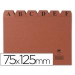 Índice fichero cartón Nº 2 tamaño 75x125