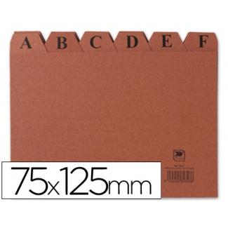Liderpapel IC02 - Índice para fichero, tamaño 75 x 125 mm Nº 2