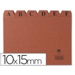 Índice fichero cartón Nº 3 tamaño 10x15