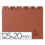 Liderpapel IC04 - Índice para fichero, tamaño 125 x 200 mm Nº 4