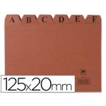 Índice fichero cartón Nº 4 tamaño 125x20