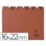 Índice fichero cartón Nº 5 tamaño 16x22
