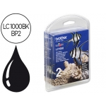 Ink-jet Brother referencia lc-1000bk negro blister pack 2