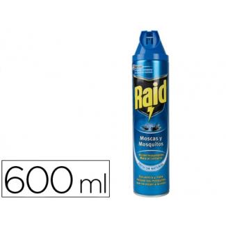 Insecticida Raid spray moscas y mosquitos 600 ml