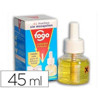Insecticida fogo eléctrico mata moscas y mosquitos recambio 45 ml