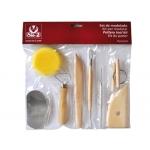 Instrumentos de modelar arcilla sio compuesto por 8 piezas