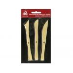 Instrumentos de modelar arcilla sio palillos de maderacompuesto por 3 piezas