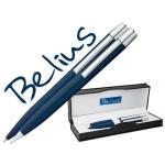 Juego Belius bolígrafo y portaminas berna color azul en estuche