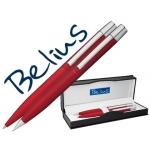 Juego Belius bolígrafo y portaminas berna color rojo en estuche