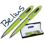 Juego Belius bolígrafo y portaminas color verde malaga en estuche