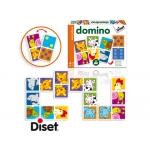 Juego Diset didáctico domino animales y puntos