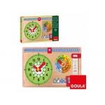 Juego Goula didáctico reloj calendario castellano