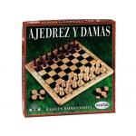 Juego de mesa Falomir ajedrez-damas madera