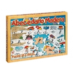 Juego de mesa Falomir puzzle de madera abecedario didáctico