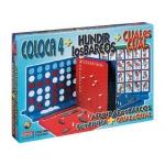 Juegos de mesa Falomir cuatro en linea + cual es cual + hundir los barcos