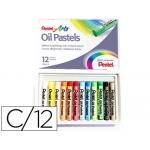 Lápices Pentel oil pastel caja de 12 colores surtidos