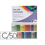 Lápices Pentel oil pastel caja de 50 colores surtidos
