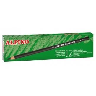 Alpino Carbonil LE010012 - Lápiz de carboncillo, caja de 12 lápices