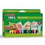 Lapices cera Alpino crea textile wax caja de 12 colores