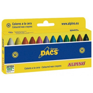 Dacs DA050290 - Ceras blandas, caja de 12 colores