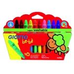 Giotto Bebe 466800 - Ceras duras, caja de 10 colores