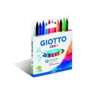 Giotto 281200 - Ceras duras, caja de 12 colores