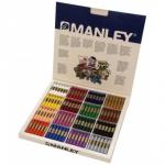 Manley 192 - Ceras blandas, caja de 192 unidades, 16 colores surtidos