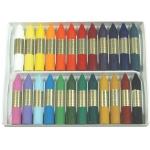 Lapices cera Manley caja de 24 colores ref.124