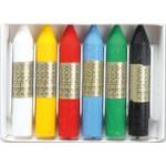 Lapices cera Manley caja de 6 colores ref.106