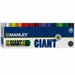 Lápices cera Manley giant mina extra 17 mm caja de 12 colores